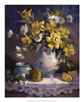 "Daffodils and Lace by Maxine Johnston - 18"" x 22"""
