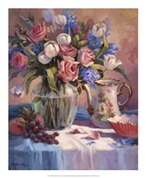 White Tulips & Roses Fine Art Print