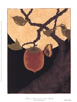 Moon, Persimmon and Moth Fine Art Print