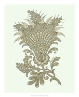 "Celadon Floral Motif I by Vision Studio - 18"" x 22"""