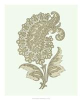 "Celadon Floral Motif II by Vision Studio - 18"" x 22"""