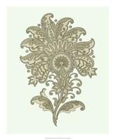 "Celadon Floral Motif III by Vision Studio - 18"" x 22"""