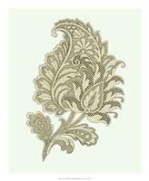 "Celadon Floral Motif IV by Vision Studio - 18"" x 22"""