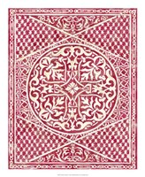 "Woodcut in Red I by Chariklia Zarris - 18"" x 22"", FulcrumGallery.com brand"