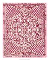 "Woodcut in Red II by Chariklia Zarris - 18"" x 22"", FulcrumGallery.com brand"