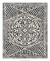 "Woodcut in Black I by Chariklia Zarris - 18"" x 22"", FulcrumGallery.com brand"