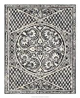 "Woodcut in Black II by Chariklia Zarris - 18"" x 22"", FulcrumGallery.com brand"