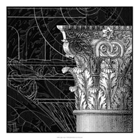 "Graphic Cornice I by Vision Studio - 22"" x 22"""