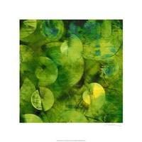 """Nautilus in Green I by Sharon Gordon - 22"""" x 22"""""""