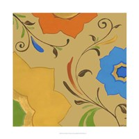 """Moroccan Floral I by June Erica Vess - 22"""" x 22"""""""