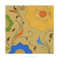 """Moroccan Floral II by June Erica Vess - 22"""" x 22"""""""