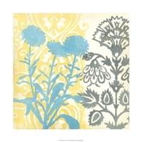 "Floral Triad I by Megan Meagher - 22"" x 22"", FulcrumGallery.com brand"