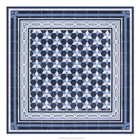 Italian Mosaic in Blue III Fine Art Print
