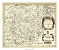"""Antiquarian Map I by Vision Studio - 26"""" x 22"""" - $40.49"""