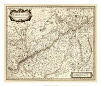 """Antiquarian Map II by Vision Studio - 26"""" x 22"""" - $40.49"""