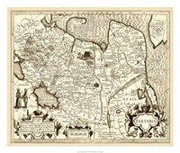 """Antiquarian Map IV by Vision Studio - 26"""" x 22"""" - $40.49"""