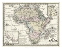 Map of Africa Fine Art Print