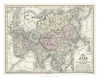 Map of Asia Fine Art Print