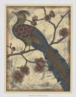 "Embroidered Pheasant II by Chariklia Zarris - 18"" x 23"""