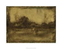 "Gilded Landscape I by Jennifer Goldberger - 30"" x 24"", FulcrumGallery.com brand"