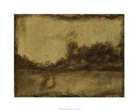 "Gilded Landscape II by Jennifer Goldberger - 30"" x 24"", FulcrumGallery.com brand"