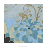 """Gilded Azure I by June Erica Vess - 24"""" x 24"""""""