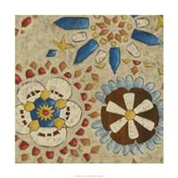 "Rustic Mosaic IV by Chariklia Zarris - 24"" x 24"""