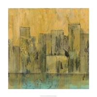 "City by the Sea II by Jennifer Goldberger - 24"" x 24"""