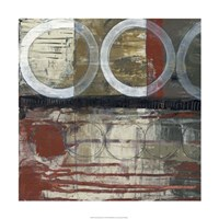 "Circles & Stripes II by Jennifer Goldberger - 24"" x 24"""