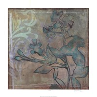 """Teal Extraction II by Jennifer Goldberger - 24"""" x 24"""""""