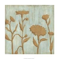 Golden Wildflowers I Fine Art Print
