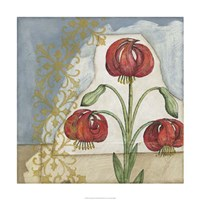 """Vintage Lilies II by Megan Meagher - 24"""" x 24"""""""