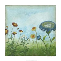 "Antique Floral Meadow II by Megan Meagher - 24"" x 24"", FulcrumGallery.com brand"