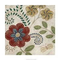 "Valentine Tapestry I by Chariklia Zarris - 24"" x 24"""
