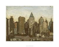 """City & Sky I by Megan Meagher - 30"""" x 24"""""""