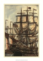 """Printed Majestic Ship I by Vision Studio - 17"""" x 24"""""""