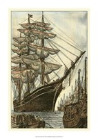 "Printed Majestic Ship II by Vision Studio - 17"" x 24"""