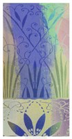 "Pastel Filigree II by Ricki Mountain - 13"" x 25"""