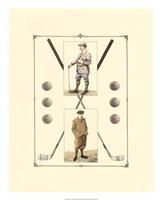 Golfers: John Henry & R. Maxwell Fine Art Print