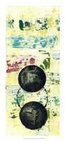 "Retro Textures I by Jennifer Goldberger - 12"" x 26"""