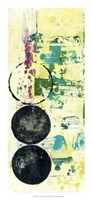 "Retro Textures II by Jennifer Goldberger - 12"" x 26"""