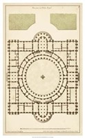 "Antique Garden Plan III by Jean F. De Neufforge - 16"" x 26"""