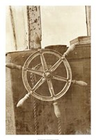 "Sepia Ship's Wheel II by Vision Studio - 18"" x 26"" - $31.49"