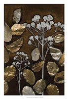 "Gilded Leaf Collage I by Megan Meagher - 18"" x 26"""