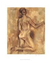 "Nude Figure Study I by Jennifer Goldberger - 22"" x 26"""