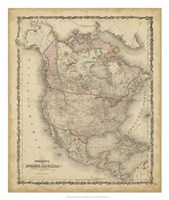 Johnson's Map of North America Fine Art Print
