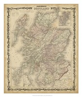Johnson's Map of Scotland Fine Art Print