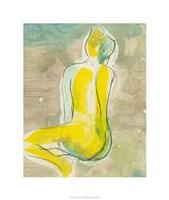 """Figure in Relief II by Jennifer Goldberger - 26"""" x 26"""""""