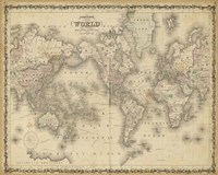 Johnson's Map of the World Fine Art Print