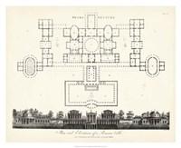 Plan & Elevation for a Roman Villa Fine Art Print